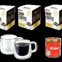 Kit 3 Drip Coffee 2 Xicaras vidro 1 Cappuccino